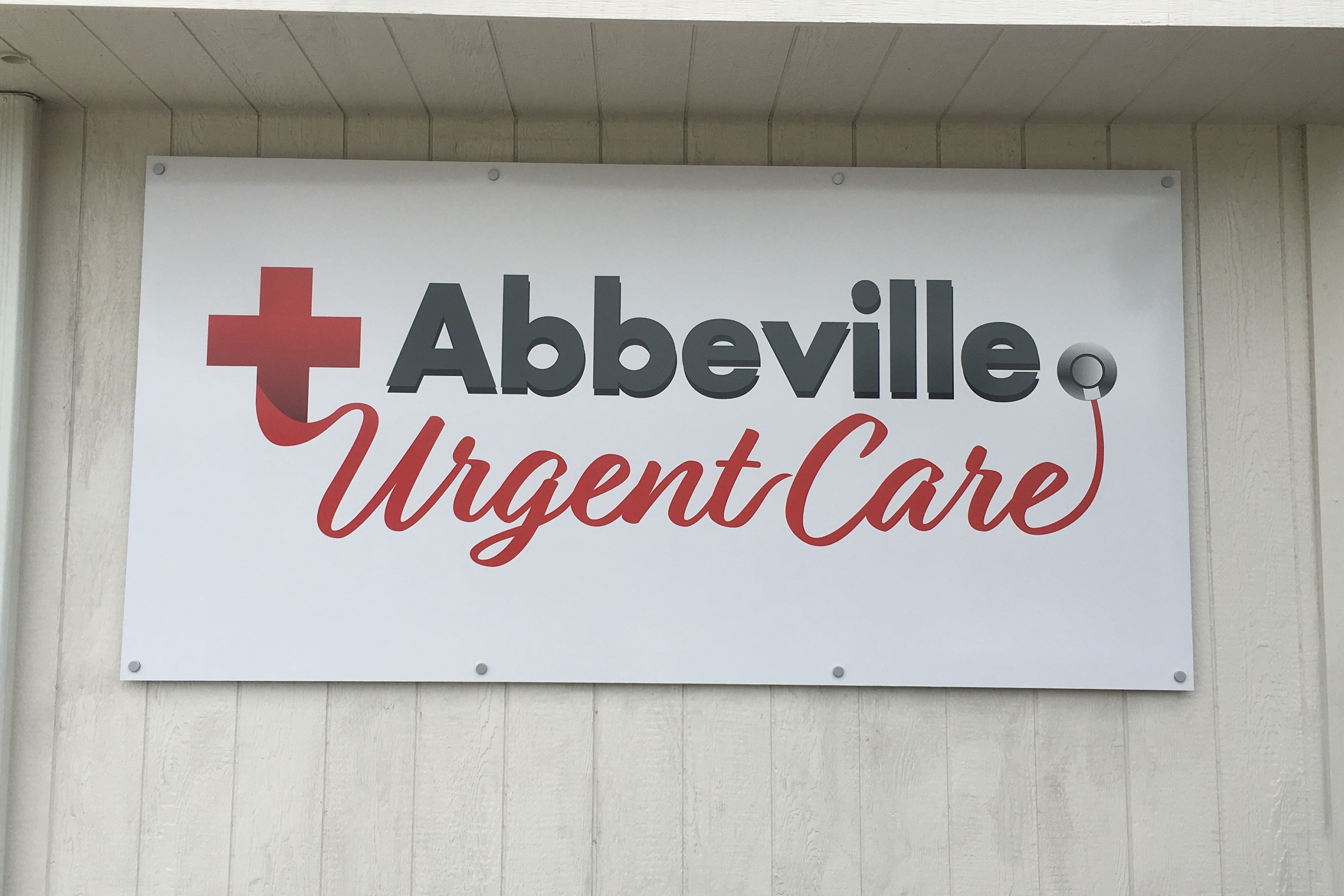 Abbeville Urgent Care Sign