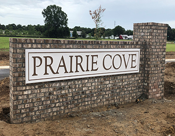 Prairie Cove sign