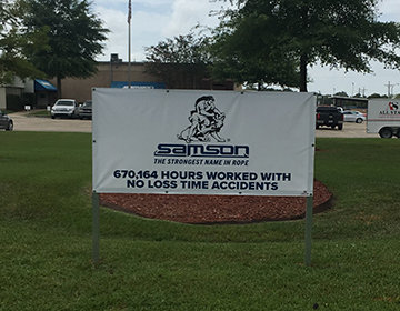 Samson Rope Sign