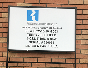 Well Lease Sign